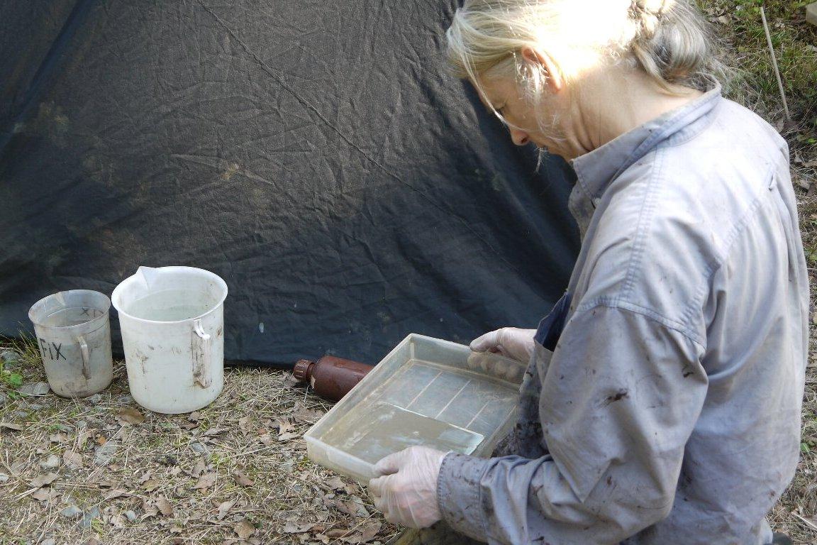 湿板光画家のエバレット・ブラウンさん相馬のお侍を撮影