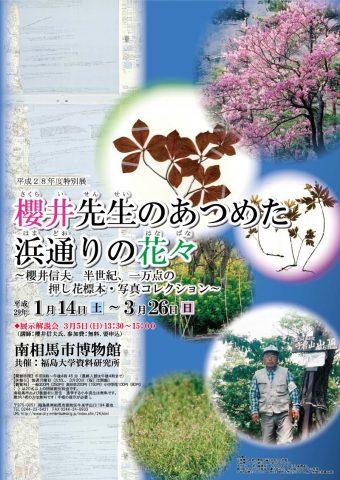 櫻井先生のあつめた浜通りの花々 @ 南相馬市博物館 | 南相馬市 | 福島県 | 日本
