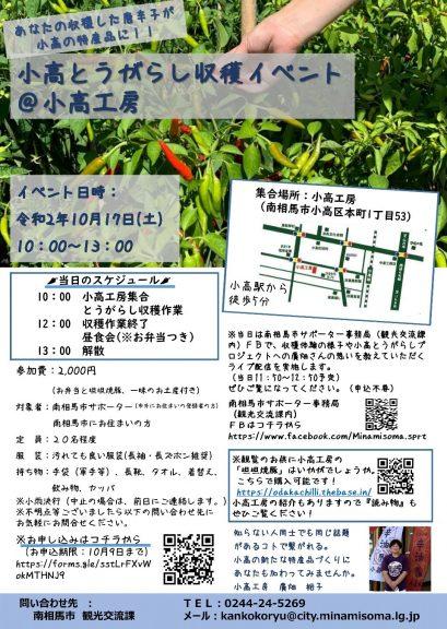 とうがらし収穫イベント - 南相馬市(小高とうがらしプロジェクト)