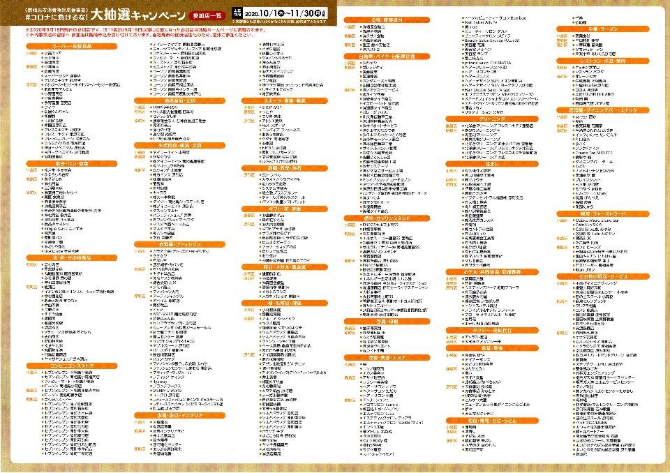 2020.10.1~11.30【南相馬市】#コロナに負けるな!大抽選キャンペーン